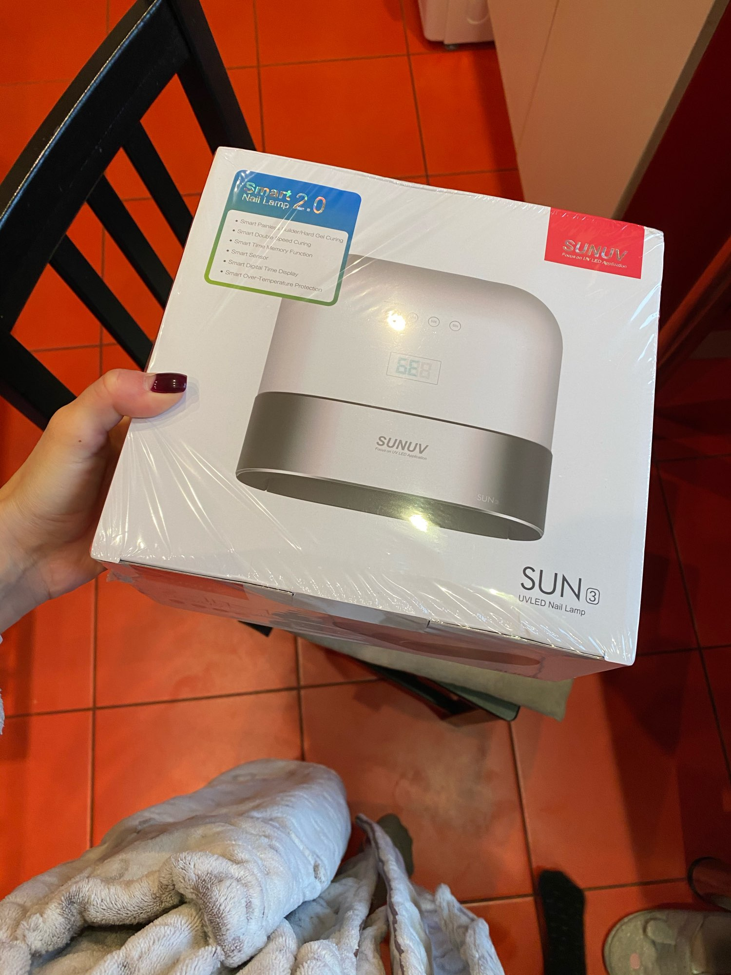 SUNUV SUN3 Smart 2.0 Nail Dryer 48W UV LED Lamp Nail with Smart Invisible Digital Timer Display Nail Drying Machine reviews №1 189312