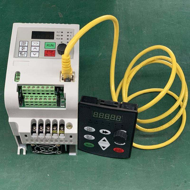 VFD инвертор 1.5KW/2.2KW/4KW/5.5KW преобразователь частоты AT1 3 P-220 V выход ЧПУ шпиндель управления скоростью двигателя VFD конвертер 2