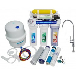 Reverse osmosis MOON75 UV. With 7 stages, Pump and gauge UV membrane 75 GPD and mixer tap Lux