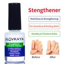 Ulovkaya 15 ml/pçs prego fortalecedor terapia intensiva cutícula óleo para a casca macia unhas endurecedor proteína bond cuidados com as unhas produto