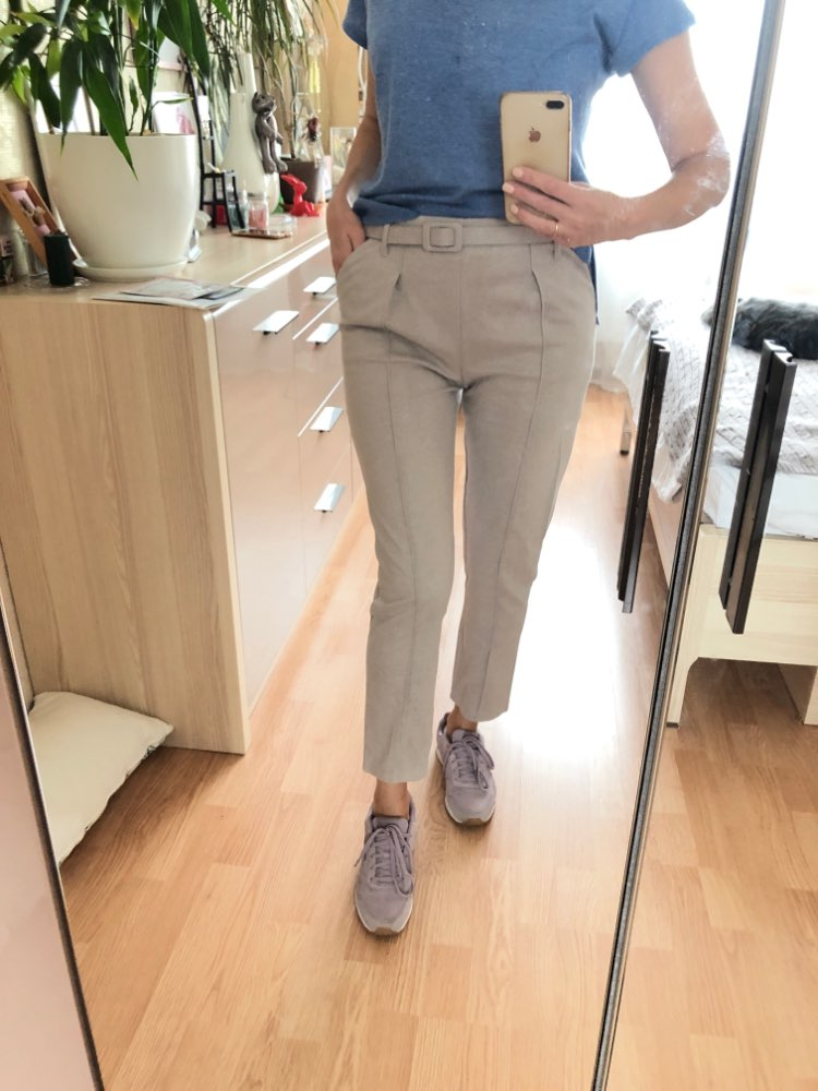 Elegant Sashes Women'S Pants Autumn Winter Solid High Waist Pockets Harem Pants Harajuku Fitness Office Lady Trousers Femme photo review