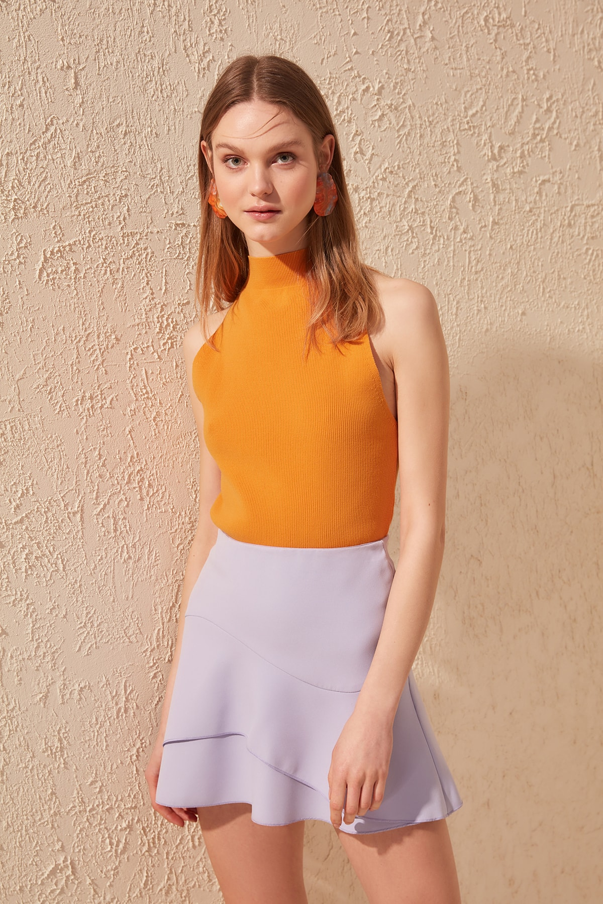 Trendyol Halter Collared Knitwear Bluz TWOAW20BZ0485