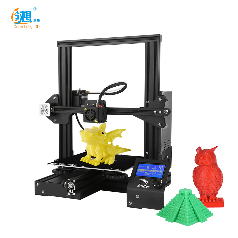 DIY Ender 3d-Printer Resume-Printing Creality 3d New Impresora with 220--220--250mm Self-Assemble title=