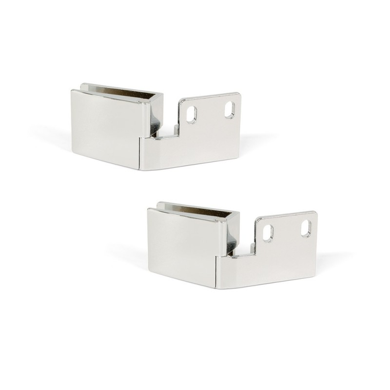Lot Of 2 Hinges Emuca For Glass Doors Inner Singing In Chrome Finish Brightness