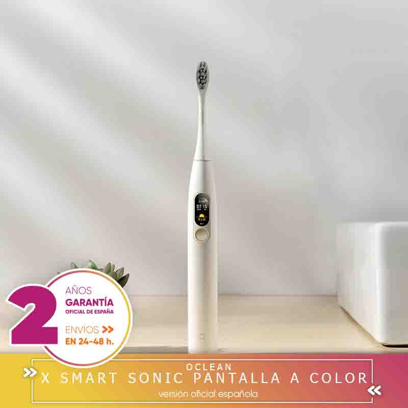 -Square Warranty-OCLEAN X BRUSH Electric Rechargeable Smart Sonic Toothbrush Screen A Color Whitening