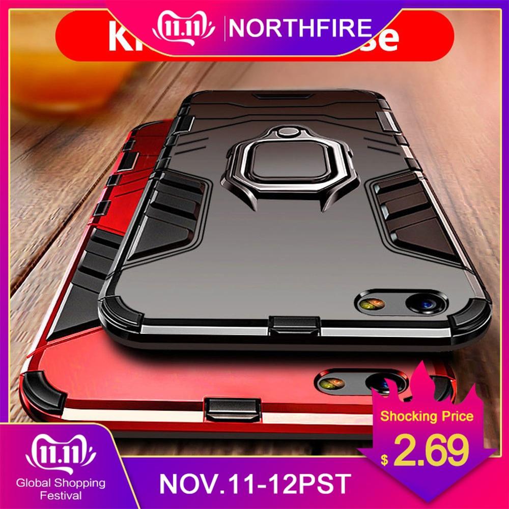 Northfire caso armadura para mi vermelho 5 plus/note4/5/6/6pro/7 magnético caso suporte para xiao mi mi vermelho x 2 s/8 lite/max 3 coque funda