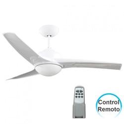 Потолочный вентилятор с светильник 3 Лопасти 55 Вт 3 скорости Самоа белый 7hSevenOn Deco