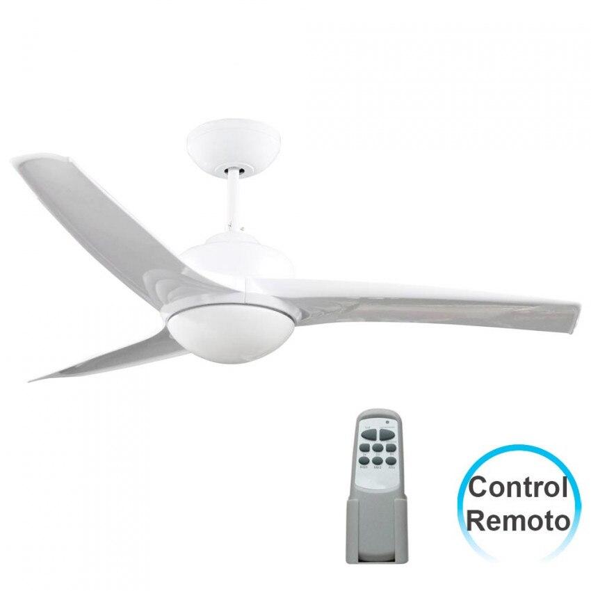 Ventilatore a soffitto con la luce 3 lame 55W 3 velocità Samoa Bianco 7hSevenOn Deco