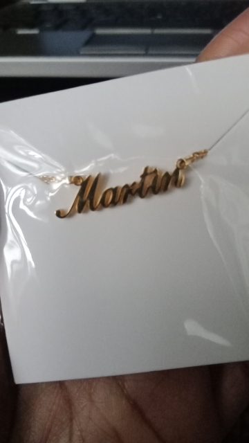 Custom Name Crown Necklace photo review