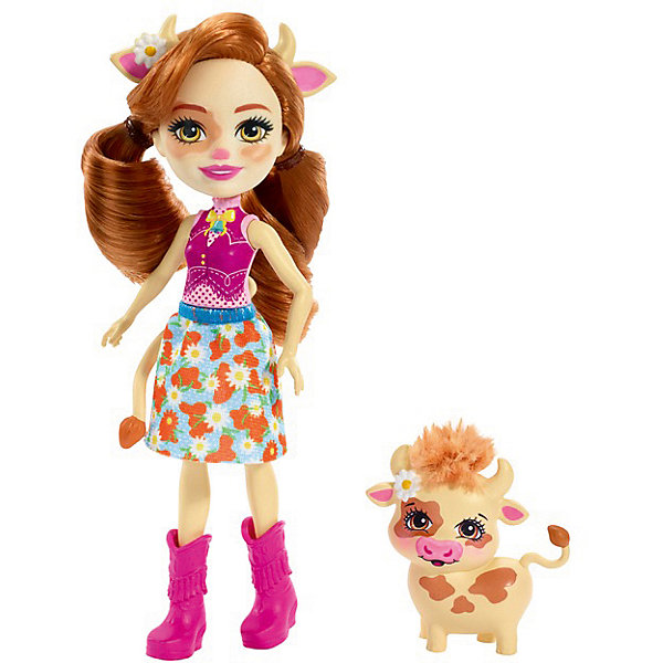 Doll With Your Favorite Animal Enchantimals Kaylee Cow And Cardle