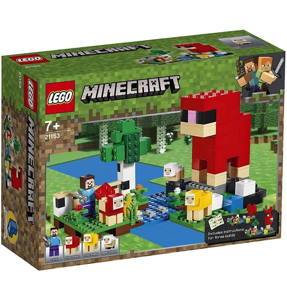 Lego Minecraft, la granja de Lana (21153), original, Minecraft, 260 piezas Lego, Minecraft toys, construccion, minifigures Steve