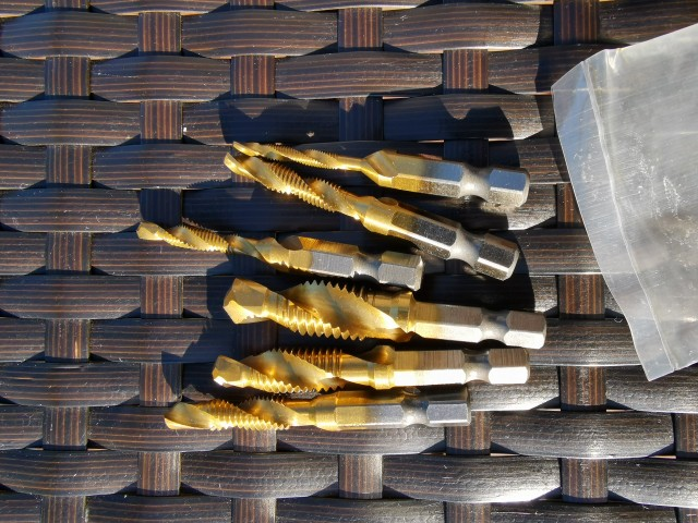 6 Pcs M3-M10 Hex Shank Thread Tap Drill Bits - controlques photo review