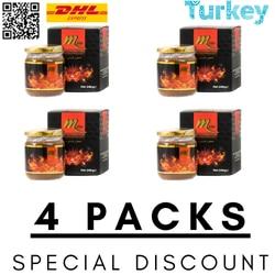 Mezcla de miel turca Mplus Epimedium 4 x 240gr-pasta turca de hierba de cabra caliente afrodisiacs, Viagra turca Halal 100