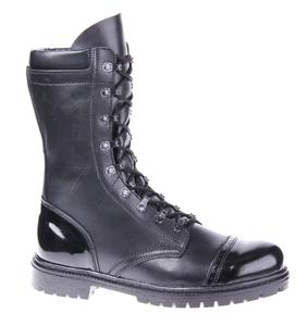 demiseason genuine leather lace-up black army ankle boots men high shoes flat military boots 5005/1WA