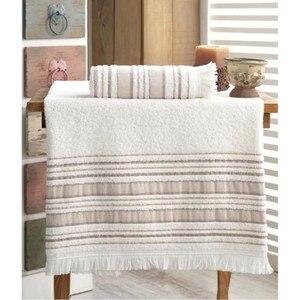Turkish Fabric Fiesta Bath Towel Set 70x140 cm and 50x90 cm Coffee 2021 Towel Set