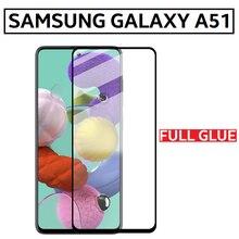 Protector Cristal Templado Full Glue para SAMSUNG GALAXY A51 Pegamento Completo Negro Pantalla Completa 5D 9H