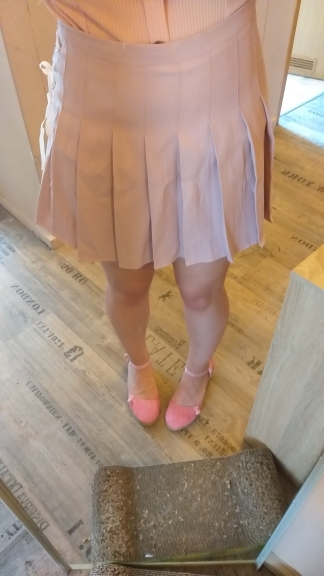 Women'S Korean Harajuku Ulzzang Bow Tie Cute Punk Funny Vintage Pleated Skirt Female Cute Japanese Kawaii Skirts For Women photo review