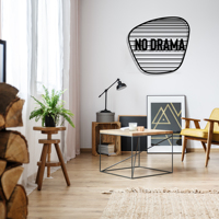 No Drama Metal Black Decor Wall Art Decorative Turkish Style large wall decor for Bedroom Living Room Office Home Decoration
