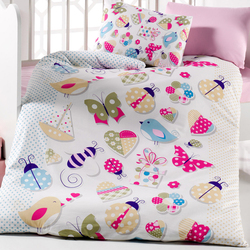 Lady Moda Butterfly 6 pcs Baby Bedding Set include quilt and pillow 100x150 cm crib bedding set 100% cotton from Turkey