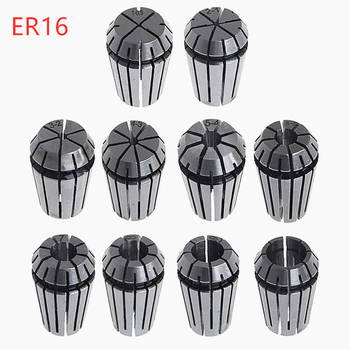 цена на 10pcs/set ER16 Series 1/2/3/4/5/6/7/8/9/10mm Spring Collet Chuck Accuracy 0.015mm for CNC Milling Tool Holder Engraving