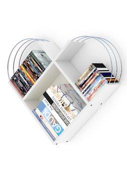 Meble do domu regał ścienny regał dekoracyjny regał na książki regały biblioteczne biały-chrom tanie i dobre opinie Mineger Goods TR (pochodzenie) Turkey 89x74x18 CM Nowoczesne Drewna meble do salonu Drewniane