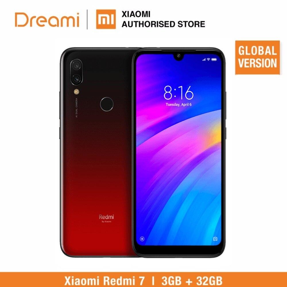 Global Versão Xiaomi Redmi 7 3 32 GB ROM GB RAM (Brand New e Caixa Selada) Estoque PRONTO