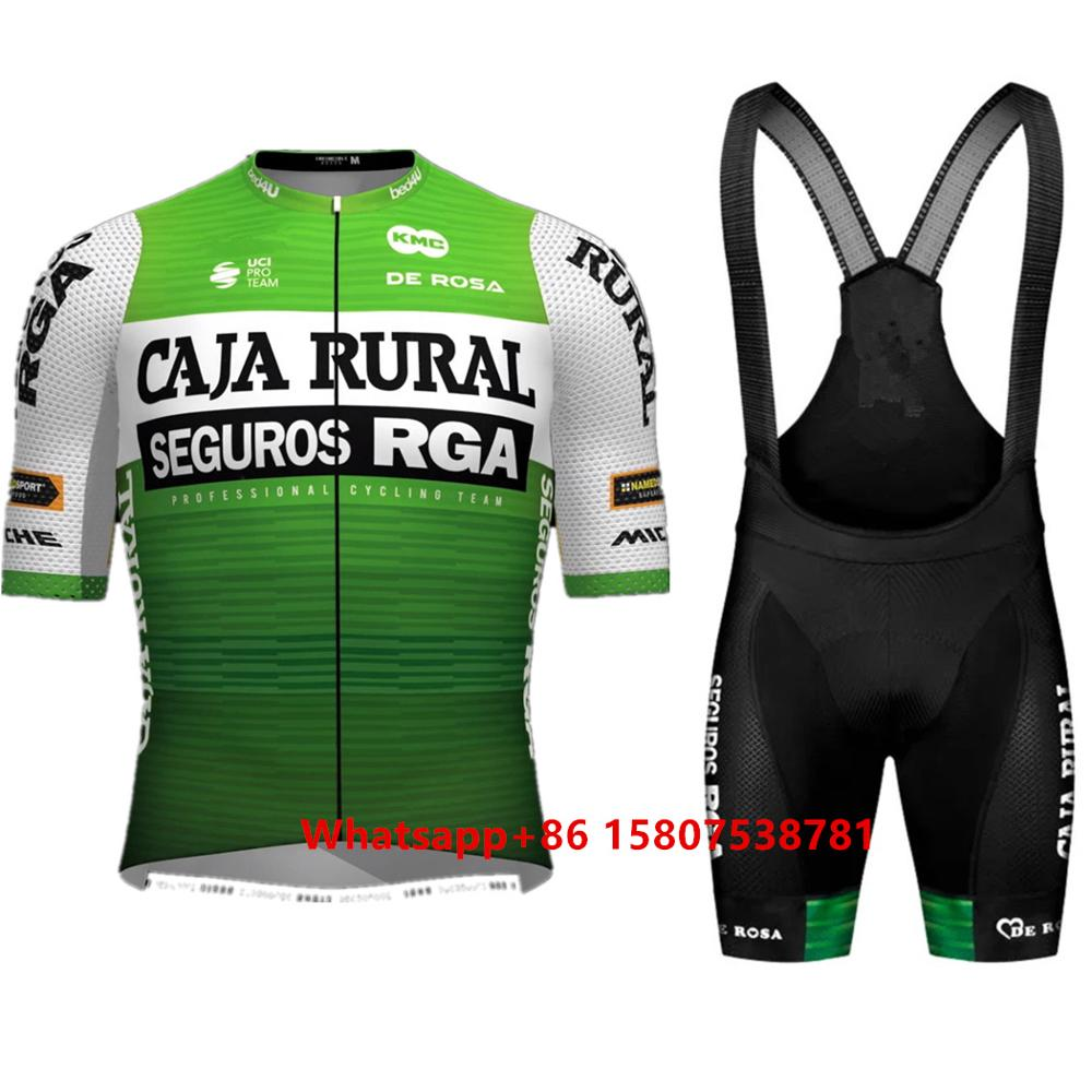 wielerkleding 2020 Caja Rural Team outdoor bicycle clothing men summer set custom bib short ciclyng set Ropa ciclismo uniformes|Cycling Sets| |  - title=