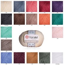 Yarnart Silky Wool Yarn %35 Silk Rayon - %65 Merino Wool 25gr-190mt Knitting Crochet Wrap Beanie Sweater Kids Adults Knitwears()