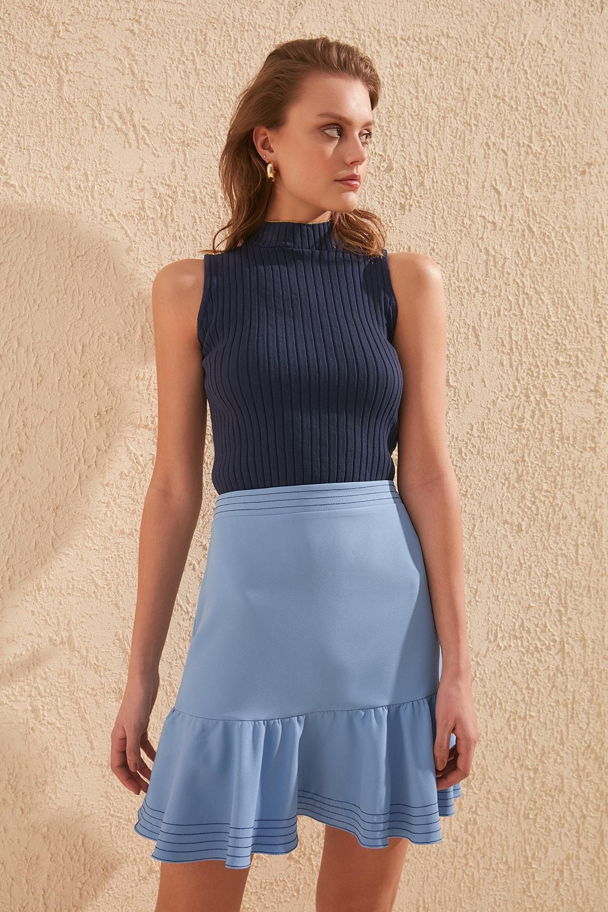 Trendyol Ruffle Detail Skirt TWOSS20ET0207