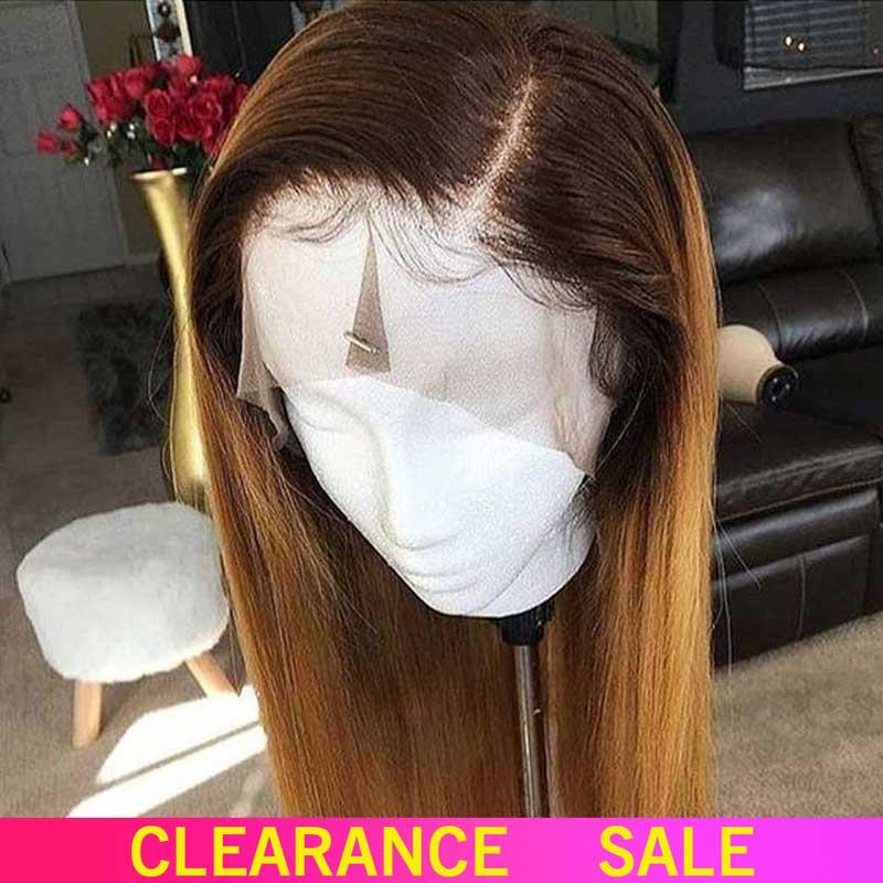 1b/27 Омбре прямые человеческие волосы на кружеве парики медовый блонд основные Remy бразильские парики на кружеве для черных женщин