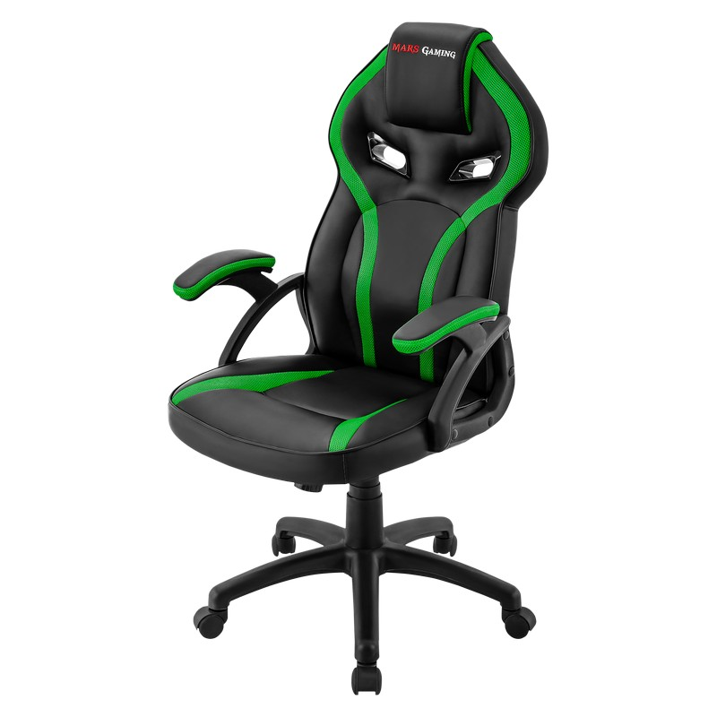 Chair Gamer Mars Gaming Mgc118bo Black Color With Detail In Green up seat Recliner Recubrimento Pu High Quality|Chaise Lounge| |  - title=