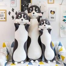 Имитация длинных больших плюшевых игрушек Хаски мягкие животные