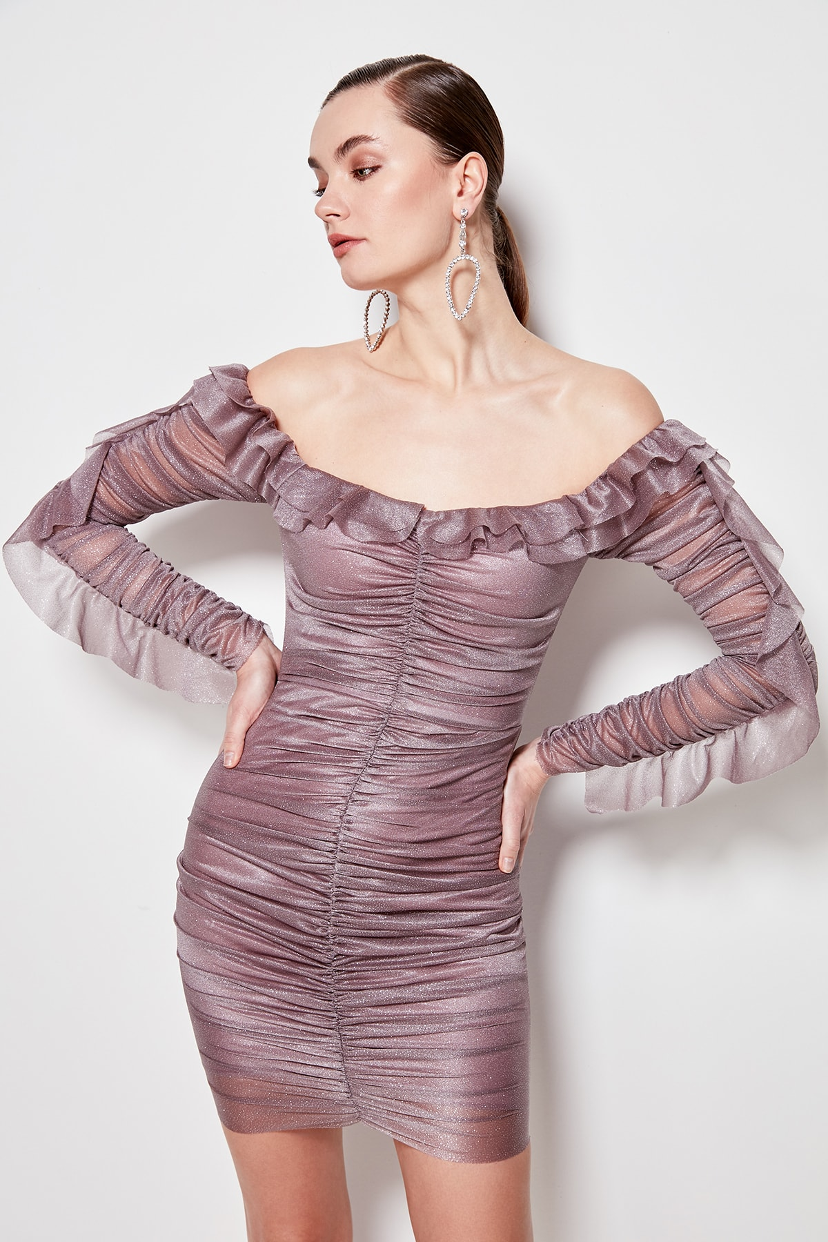 Trendyol Drape Detail Dress TPRSS20EL0205