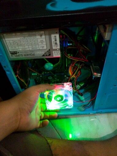 pc computer fan case cooling fan unit fan 8025 8cm with  LED lights  chassis fan  80*80*25|computer fan|pc computer fancase cooling fan - AliExpress