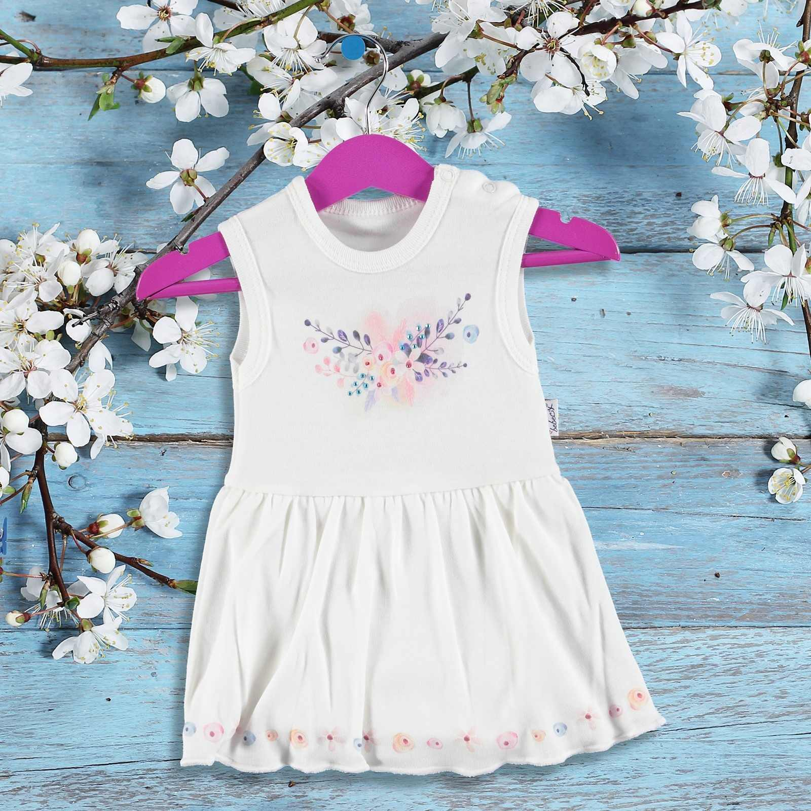 ebebek Bebecix Baby Girl Flowered Dress Bodysuit