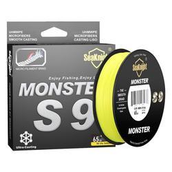 SeaKnight Monster S9 300M 500M PE Fishing Line 9 Strand Reverse Spiral Tech Multifilament Strong Carp Fishing Line 20-100LB