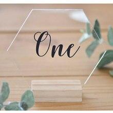 Шестигранный стол номер Свадебный акриловый номер свадебного стола геометрическое украшение свадебного стола индивидуальный номер стола современная свадьба