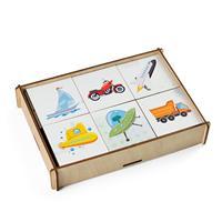 Puzzles PAREMO Game set \Memorial Transportation wooden toys game for boys and girls for children learning fine motor skills puzzle children's educational basic Montessori skills Sorter