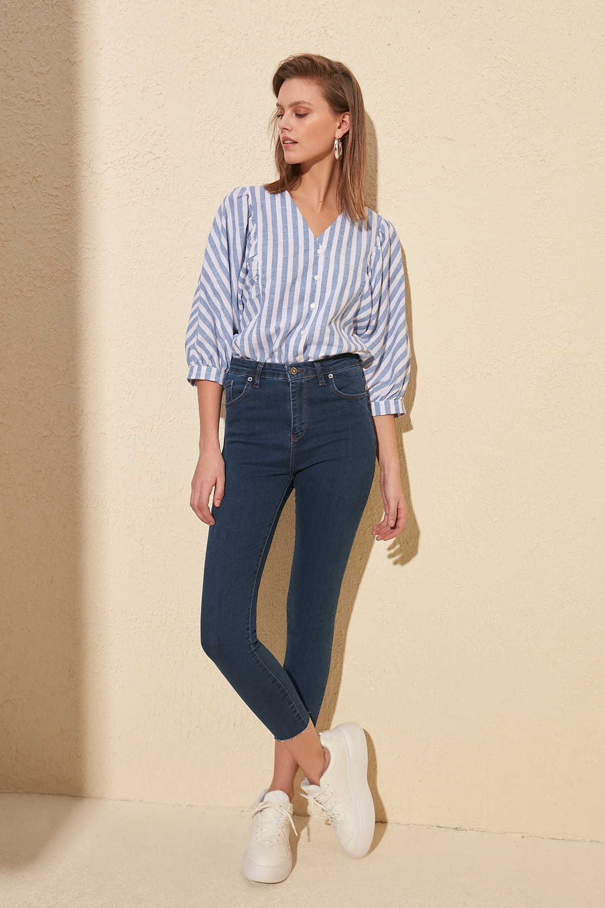 Trendyol Pettitoes Discrete High Waist Skinny Jeans TWOSS20JE0300