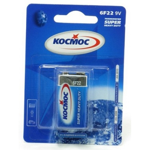 Battery SPACE KOC6F221BL Type: Crown 6F22 (9) (Qty In Pack. 1 PCs)