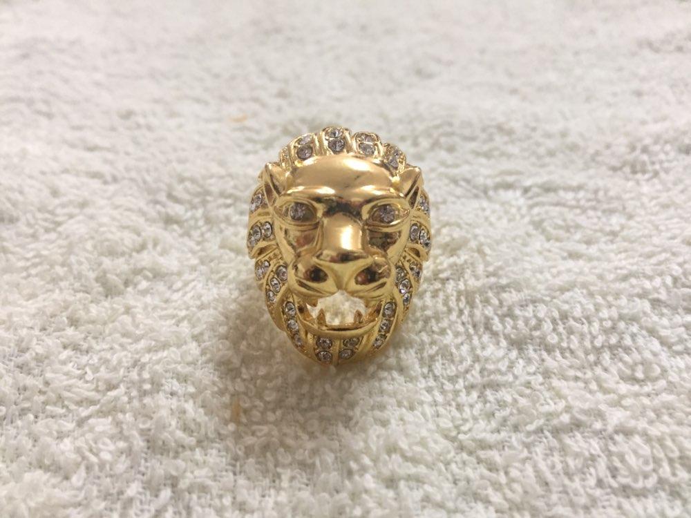 Chevalière homme en argent tête de Lion