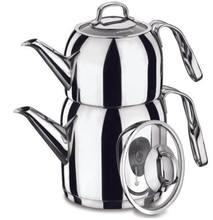 Korkmaz Steama çaydanlık seti | Türk çay | SU ISITICI | Demlik | Sıcak çay