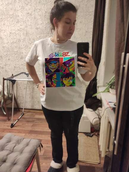 Summer Music Band Gorillaz T-shirt Tops Tees Men women Short Sleeve Casual T Shirt Fashion Streetwear Hip Hop photo review