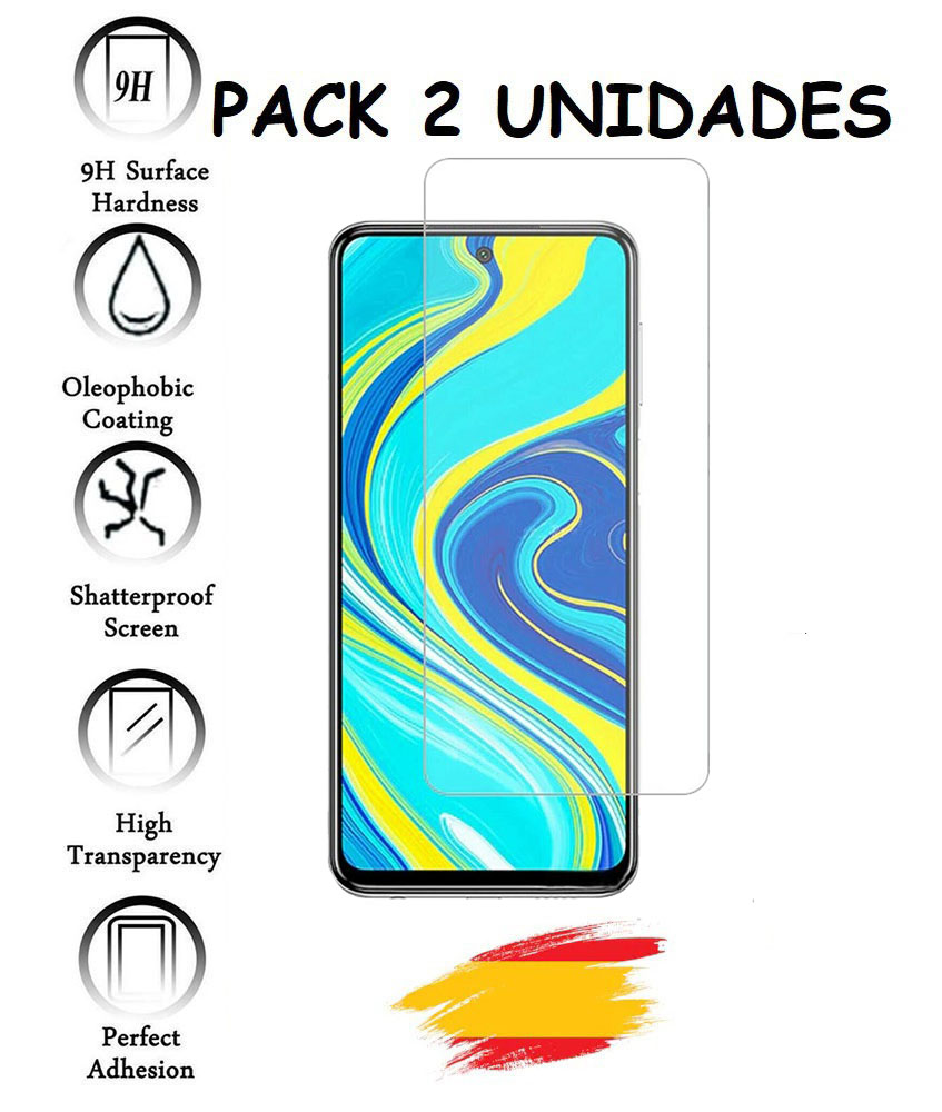2X Tempered Glass Protector For XIAOMI REDMI NOTE 9S Crystal Shockproof 9h, 2 Units