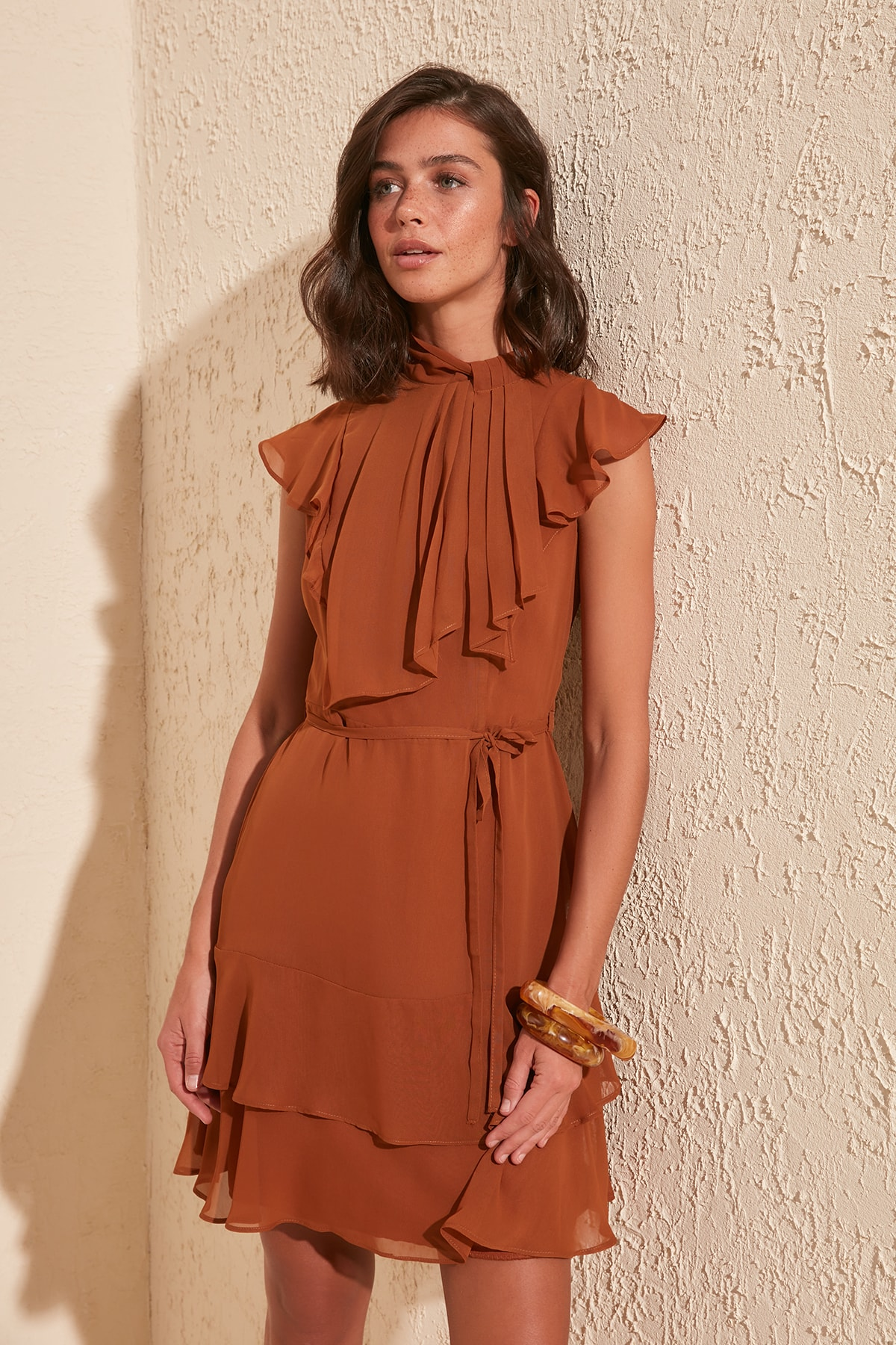 Trendyol Flounces Dress TWOSS20EL2080