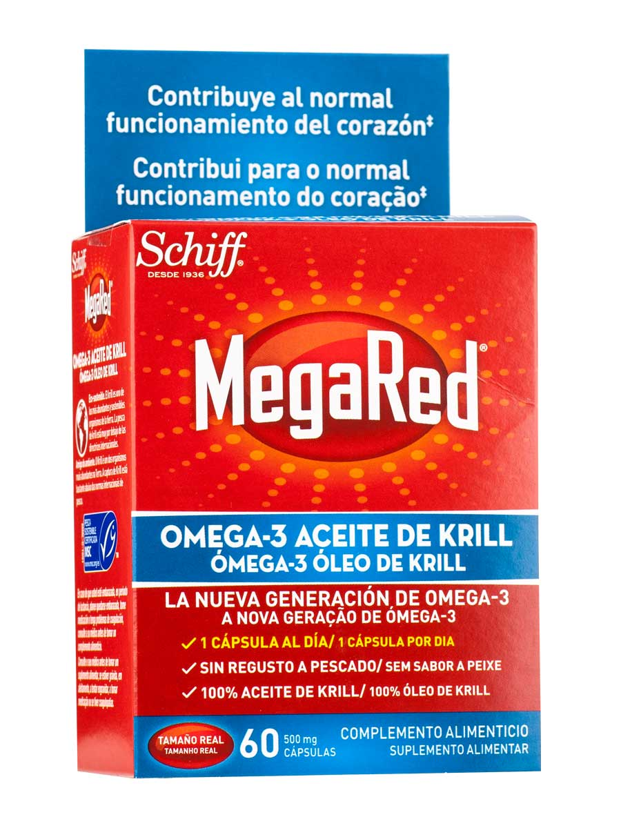 Megared 500 mg 60 food supplement capsules that prevent heart disease and treat cholesterol.