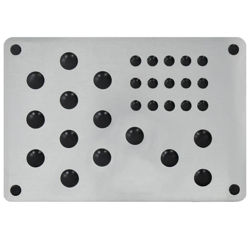 Toe for auto floor mats, toe on the mat auto, aluminum alloy +TPR, polymer pad car mats, for Eva 1