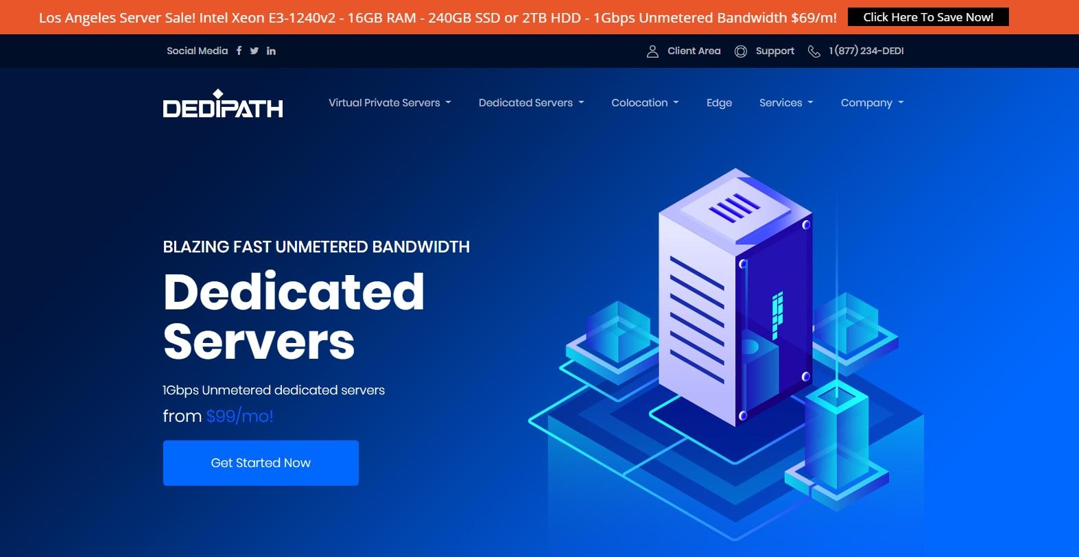 DediPath 独服促销活动 Intel Xeon E3-1240v2/16g内存/2T硬盘 $69/月