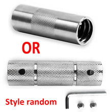 25mm aço haltere barra conector chave conveniente + parafuso + barra de barra spinlock 1
