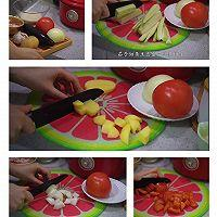 七日懒人焖饭之茄子烧肉焖饭的做法图解1